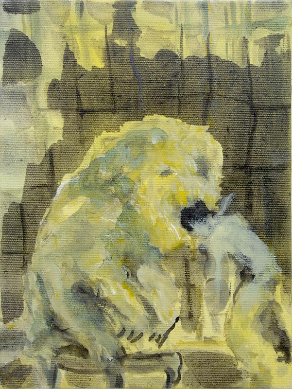2008, Sich von einem Löwen zerfleischen lassen, Being Devoured by a Lion