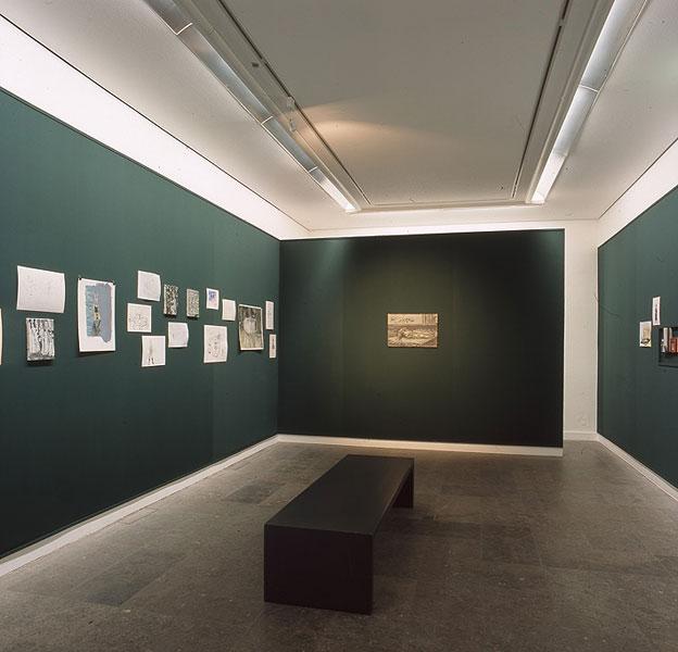 """Exhibition """"Schiesserei im Schlafwald"""", Westfälischer Kunstverein Münster, 27.03.-16.05. 2004"""