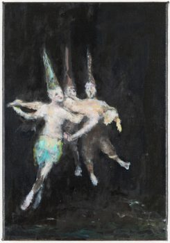Ghost (after Witches' Flight by Goya), 40 x 30 cm, 2013-2014