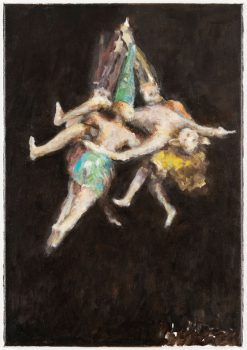 Ghost (after Witches' Flight by Goya), 40 x 30 cm, 2014