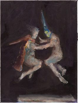 Ghost (after Witches' Flight by Goya), 40 x 30 cm, 2015
