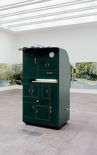 sarah kane, wood and mixed media, 206 x 104 x 93 cm, 2002