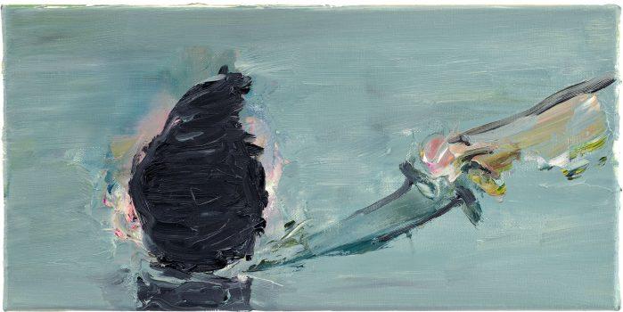 Shortcuts, Messerschnitt, 20 x 40 cm, oil on canvas, 2008