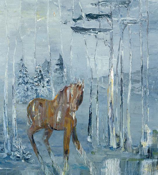 das geraeusch, 210 x 190 cm, oil on canvas, 2005