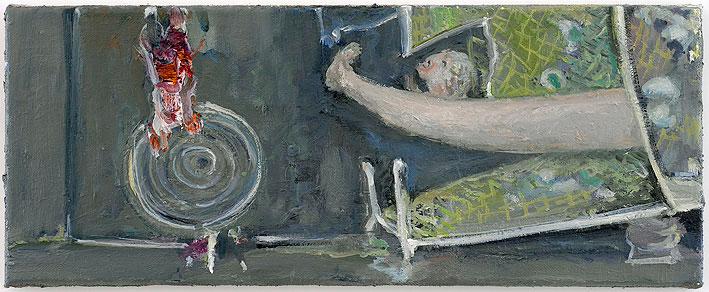maria verknüpfung, 20 x 50 cm, oil on canvas, 2008