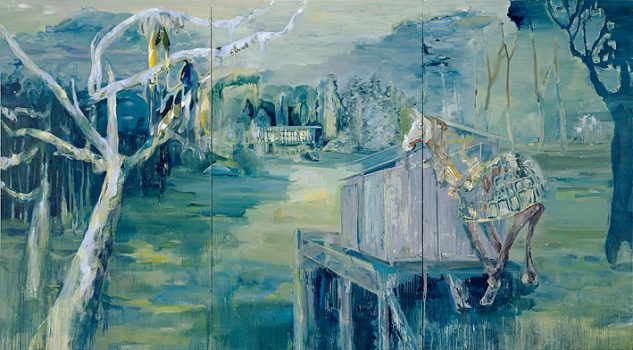 parking, 250 x 450 cm, oil on canvas, 2006