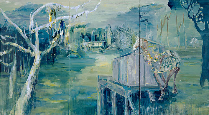 parking, 250 x 450 cm, oil on canvas, 2006