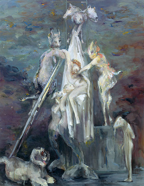 redescription no. 2, 250 x 195 cm, oil on canvas, 2008