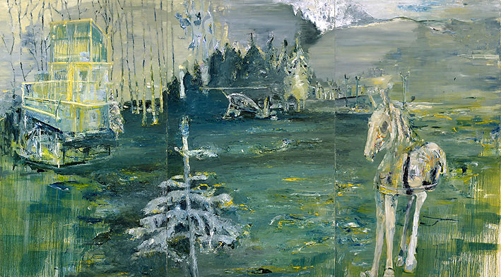 james blonde, 250 x 450 cm, oil on canvas, 2005