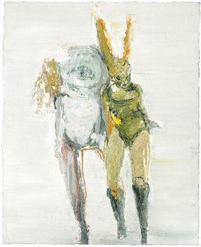 lapine univers mit einem freund, 50 x 40 cm, oil on canvas, 2005