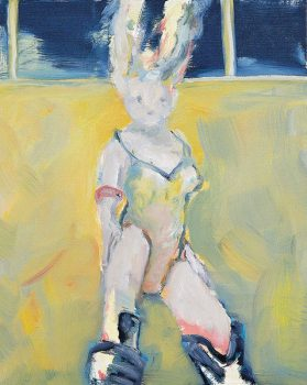 lapine univers, 50 x 40 cm, oil on canvas, 2001