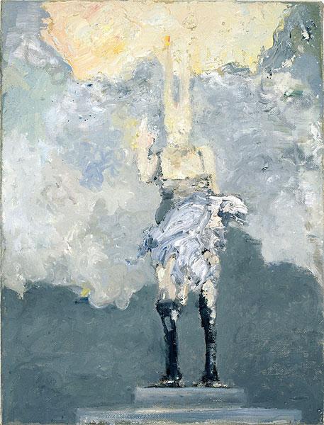 lapine univers columbia mit adler, 40 x 30 cm, oil on canvas, 2006