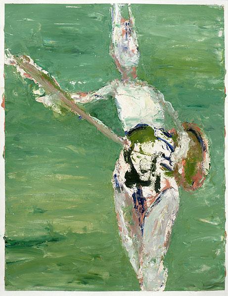 lapine univers mit gitarre, 70 x 50 cm, oil on paper, 2006
