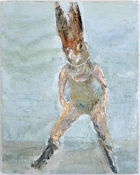 lapine univers mit roter maske, 50 x 40 cm, oil on canvas, 2006