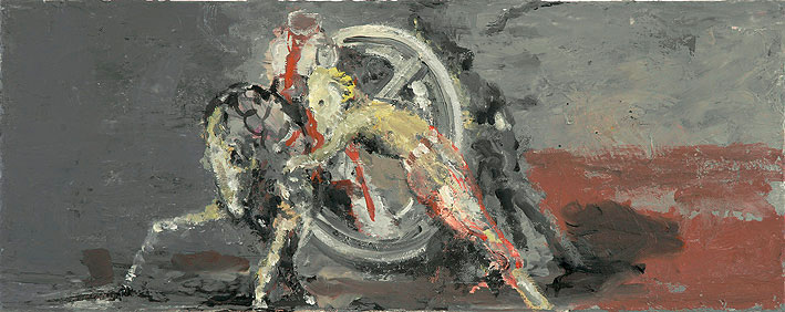 fortuna, 20 x 50 cm, oil on canvas, 2009