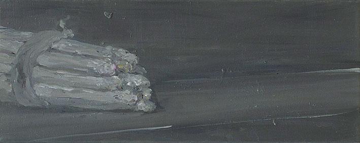 asperges d'après manet, 20 x 50 cm, oil on canvas, 2007