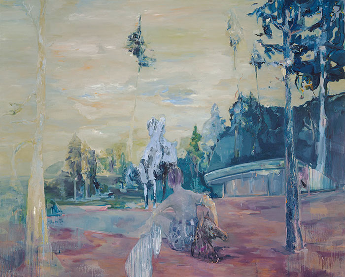 suggestion, 250 x 350 cm, oil on canvas, 2006