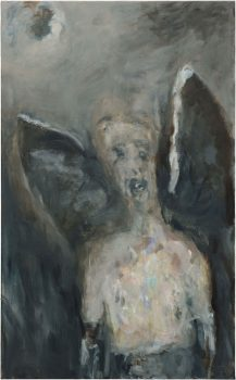 Selbstportrait Engel nach Redon