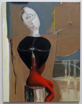 Selbstportrait nach de Chirico, weiblich